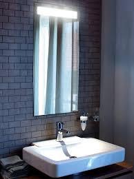bathroom mirror with lights built in. diamando mirror by sidler with built in light bathroom lights 3