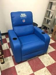 light blue recliner chair bud light licensed blue recliner furniture in in light blue leather recliner
