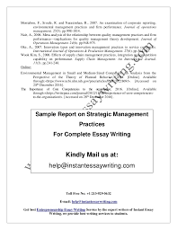 sample report on strategic management practices by instant essay writ 9