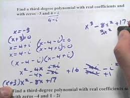 form a polynomial whose real zeros and degree are given write polynomial functions given specific zeros youtube