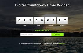 countdown templates digital countdown timer widget flat responsive widget template