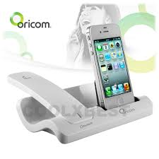 oricom bluetooth cordless desk handset charger dock stand for