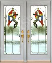 stain glass door inserts stained glass inserts for entry doors parrot design stained glass door inserts