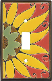 kitchen light switch covers kitchen. Mexican Sunflower Ceramic Light Switch Plates, Outlet Covers, Wallplates Kitchen Covers A