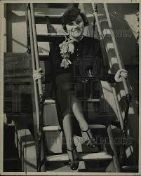 Rosalind Zimmerman at the steps of her plane 1936 Vintage Press Photo Print  | Historic Images
