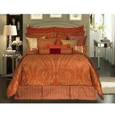 burnt orange bedding brilliant quilt king comforter sets rose tree sized in 10
