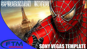 Spiderman Template Spiderman Intro Free Sony Vegas Template