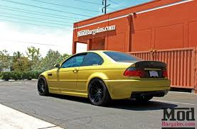 bmw m3 e46 black. sd stunner dakar yellow e46 bmw m3 on matte black forgestar f14 wheels bmw