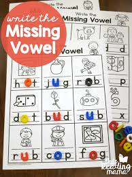 Write the Missing Vowel Worksheets - CVC Words - This Reading Mama