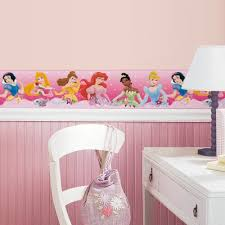 Princess Bedroom New Pink Disney Princess Border Wallpaper Wall Decals Girls