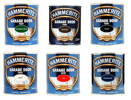hammerite garage door paint 750ml black blue chestnut green red white enamel