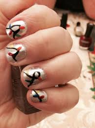 Christmas Light Nails String String Of Christmas Lights Nail Design Nail Designs Nail