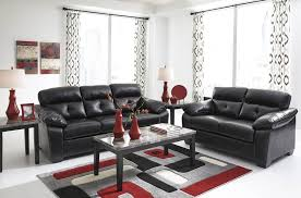 Red and black furniture Fancy Black Leather Sofa And Chair With Red And White Accent For Apartment Living Room Ebay Furniture Black Leather Sofa And Chair With Red And White Accent
