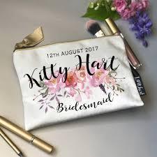 personalised shimmer velvet peonie print makeup bag