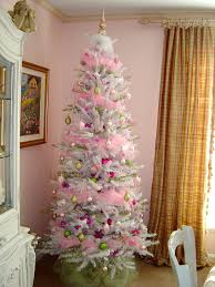Trim the Tree Thursday.My Pink and White Christmas Tree