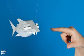 ronzo s derrick the deathfin paper craft shark mobile game  ronzo s derrick the deathfin paper craft shark mobile game photo ©mark rigney