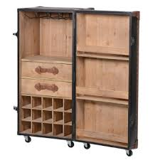 bar trunk furniture. brown bar trunk on castors furniture k
