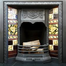 antique fireplace tile. fully restored antique fireplace insert with original tiles, lots of others available at holyrood salvage tile