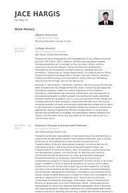 Adjunct Instructor Resume Samples Visualcv Resume Samples Database