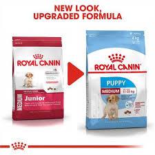Royal Canin Dog Food Feeding Chart Royal Canin Size Health Nutrition Medium Junior Puppy Dry