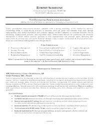 Resume Format For Purchase Manager Procurement Resume Samples April