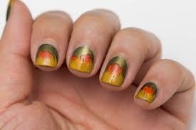 Fall Inspired Nail Art for Short Nails with Cosmetics Aficionado ...