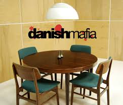 Danish Modern Dining Chairs Table An  Lpuite - Round modern dining room sets