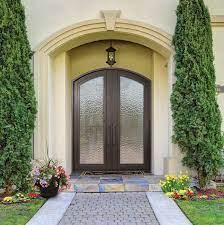 arch top exterior french patio door