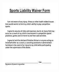 waver form template indemnity waiver template sports liability forms samples