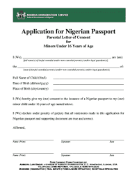 Sample Letter Of Consent Written To Nigeria Immigration For My