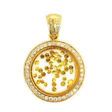 p14000226 custom floating diamond circle pendant