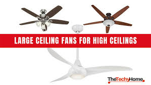 top rated large ceiling fans for high ceilings