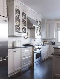 Kitchen: White Kitchen Cabinet Ideas With Glass Doors - Grey Kitchen  Cabinets B And Q