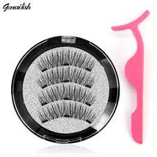<b>Genailish 3D Magnetic eyelashes</b> with 3 magnets handmade natural ...