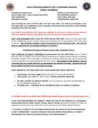 navy overseas screening form fillable online med navy uscg overseas remote duty screening process