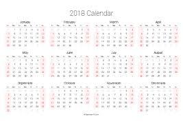 Printable 2018 Calendars (Pdf) - Calendar-12.com