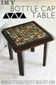 bottle cap furniture. my beautiful crazy life diy bottle cap table furniture