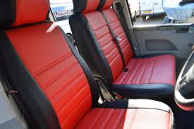 t5 seat covers red
