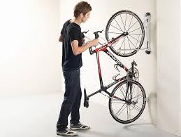 compact vertical bike rack wall mount