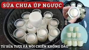 Làm Sữa Chua Úp Ngược Từ Sữa Tươi, Ủ Bằng Nồi Chiên Không Dầu - YouTube