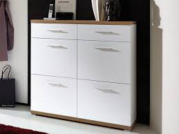 Germania Top Modern Shoe Cabinet Drawers Doors White Oak