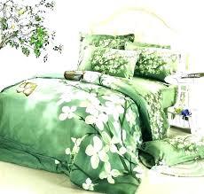 green forest duvet cover linen bed sheets queen lime bedding