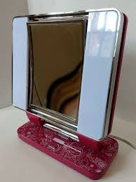 details about ottlite pink swirl dual side natural daylight makeup mirror 5x 1x magnification