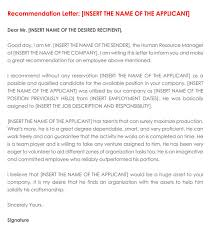 Recommendation Letter For Employment 30 Sample Letters