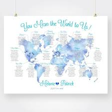 Printable Map Wedding Seating Chart Sit Back And Relax