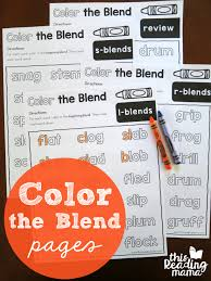 These are created and developed by parents (ourselves) and tested by kids (our children). Color The Blends Phonics Pages This Reading Mama