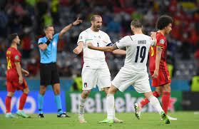 إيطاليا تطيح ببلجيكا وتصطدم بإسبانيا في نصف النهائي