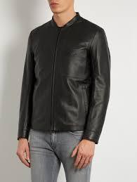fendi jackets fendi patch pocket leather jacket black mens fendi