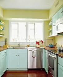 Kitchen:Contemporary Kitchen With Green Decoration And Modular Kitchen  Island Also Checkered Floor Alluring Kitchen