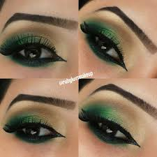 traditional indian stani bridal smokey eye mehendi makeup up green and gold you